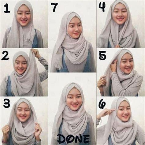 tutorial kerudung pashmina rawis tutorial hijab pashmina terbaru dan simple