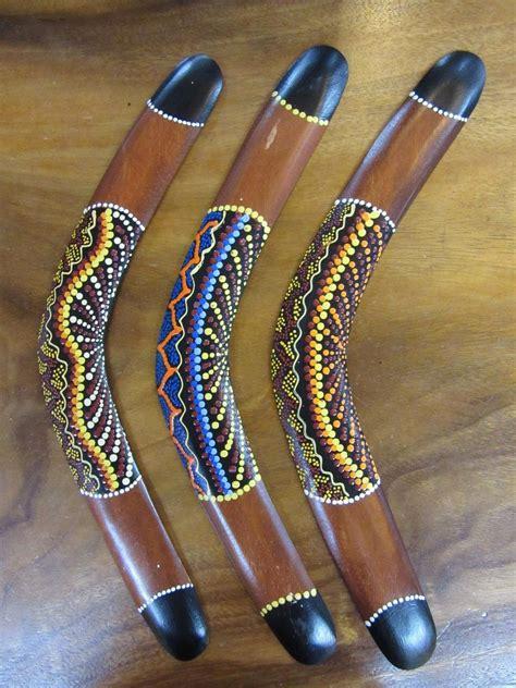 painting boomerang funky stuff 1x cool aboriginal style boomerang with dot