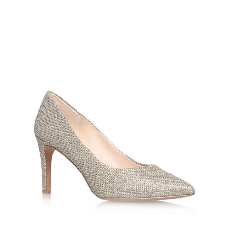 high heels nine west nine west charly2 high heel court shoes in metallic lyst