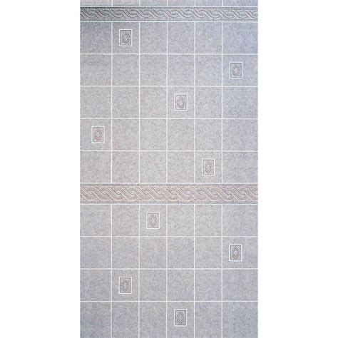 bathroom wall paneling home depot aquatile 1 8 in x 4 ft x 96 in alicante tile board