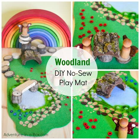 felt crafts for no sew woodland meadow diy no sew felt play mat adventure in a box