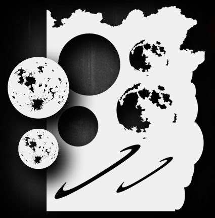 Moon Planet Set Airbrush Stencil Template Airsick Ebay Planet Stencils Printable
