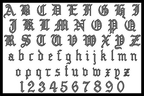 tattoo maker old english font 06 27 13
