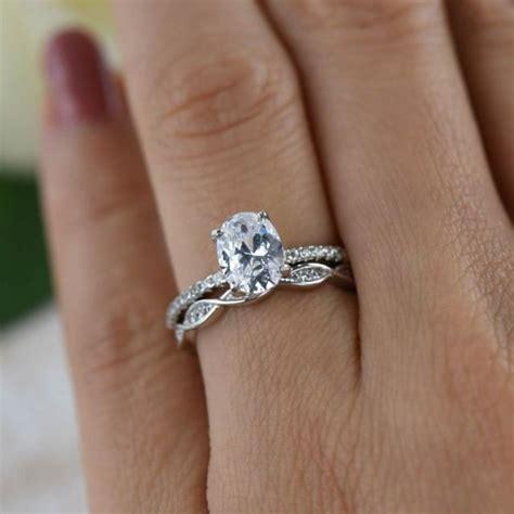 Ctw O L Art Deswirl  Ee  Wedding Ee   Set Solitaire Ring