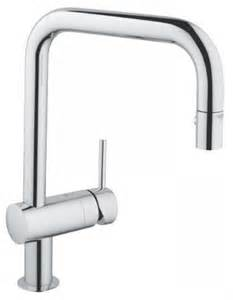 Grohe Kitchen Sinks Grohe Minta Kitchen Sink Mixer 1 2 Swivel Square Spout Pull Out Dual Spray 32322