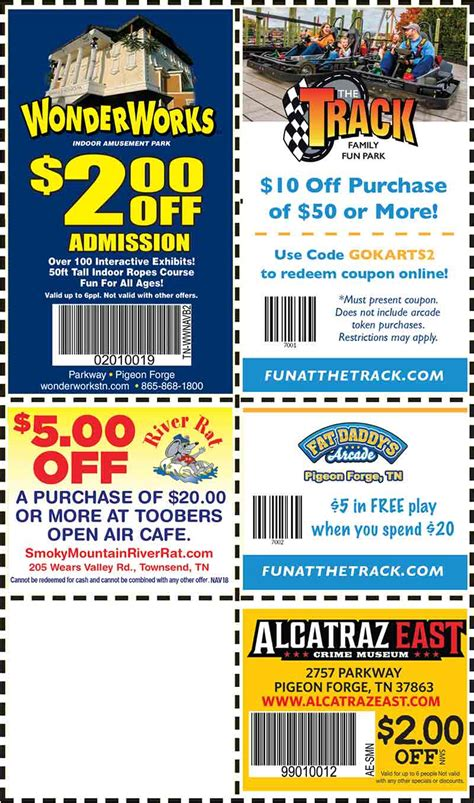 printable restaurant coupons for pigeon forge tn gatlinburg restaurant coupons for gatlinburg tn autos post