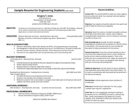 adorable mechanical student resume in resume for mechanical