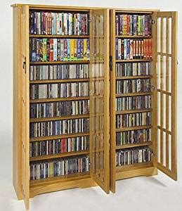 high capacity dvd storage cabinet amazon com leslie dame m 954 high capacity inlaid glass