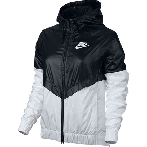 nike windbreaker nike w windbreaker black white