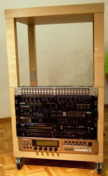 Lack Audio Rack 20 Units Instrument Rack From Ikea S Lack Tables 5 Steps