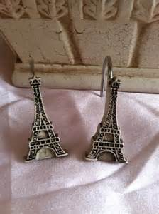 eiffel tower shower curtain hooks
