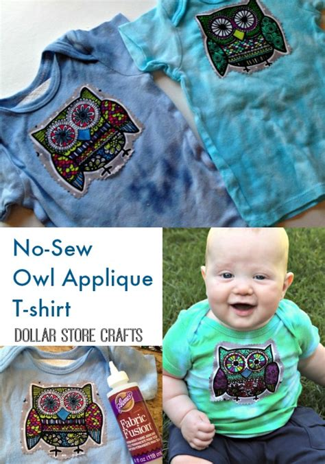 sew owl applique  shirt dollar store crafts
