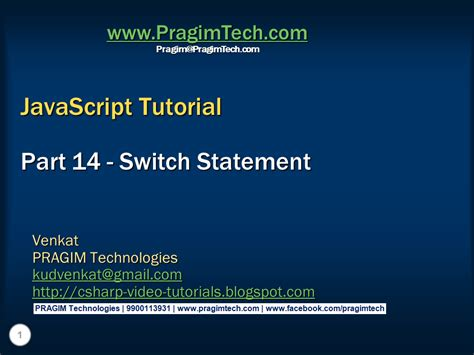 tutorial javascript switch case sql server net and c video tutorial switch statement