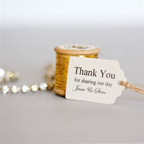 Wedding Favors Tags by Personalised Small Favour Tags By Edgeinspired