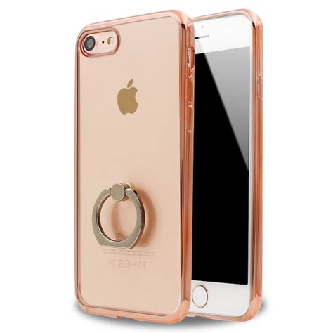 Iphone 7 Plus Ring Protector Black Gold Rosegold 7plus wholesale iphone 7 clear electroplate ring stand gold