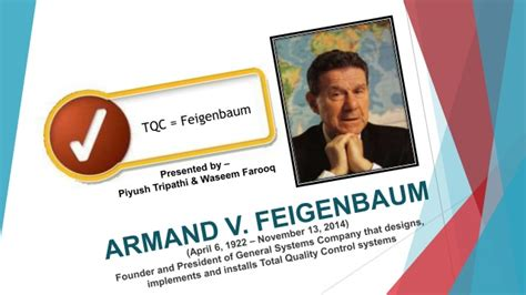 Mba Total Quality Management Syllabus by Feigenbaum S Philosophy On Total Quality Management