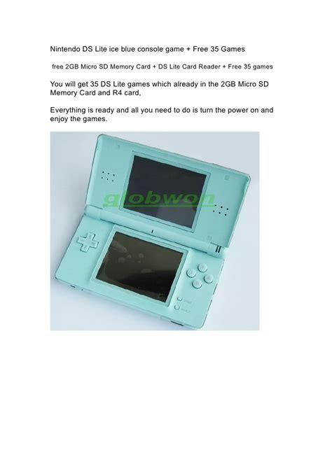 Memory Card Nintendo Ds Lite nintendo ds lite blue console 35 free