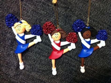 personalized christmas ornament cheerleader sports