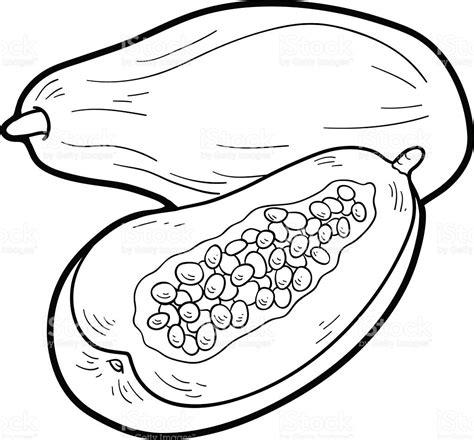 imagenes de verduras a blanco y negro libro para colorear frutas y verduras papaya arte