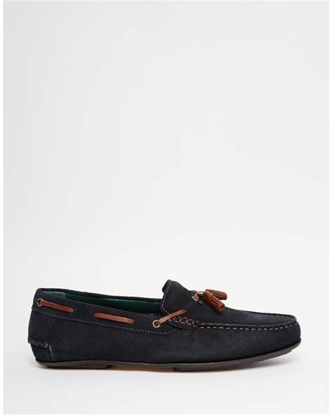 ted baker suede loafers ted baker muddi suede tassel loafers in black for