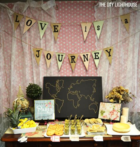 themes around love how to throw a travel themed bridal shower on a budget