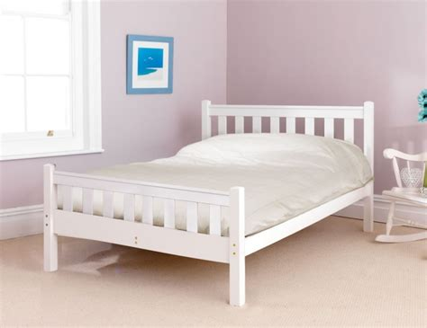 White High Bed Frame Shaker White High Foot End Bed Frame