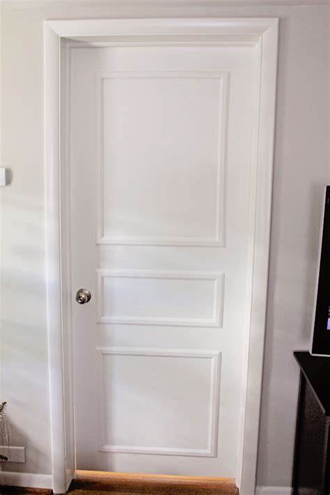 DIY Door Trim for Plain Doors Brooklyn House ? Elizabeth Burns Design, Raleigh NC Interior