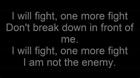 last fight bullet for my lyrics bullet for my the last fight acoustic version