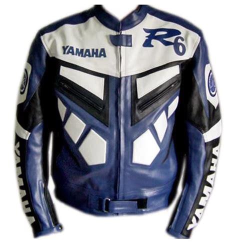 Motorrad Lederjacke Eng by Yamaha R6 Blau Und Wei 223 Bike Racing Lederjacke