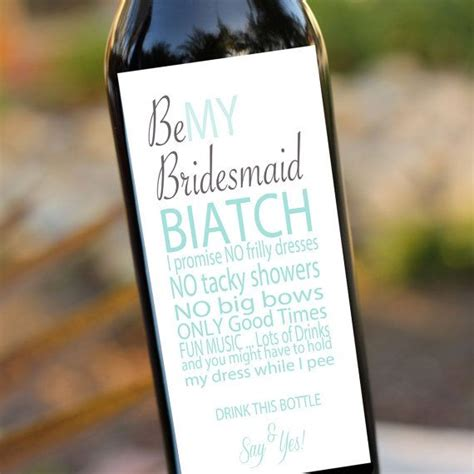 will you be my bridesmaid wine label template bridesmaids gifts will you be my bridesmaid wedding wine