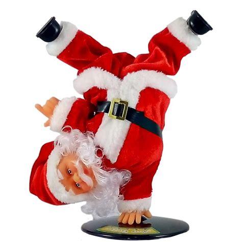 hip hop santa doll dancing animated christmas decoration