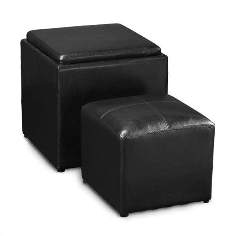 Black Cube Ottoman Single Cube Ottoman In Black 143010b