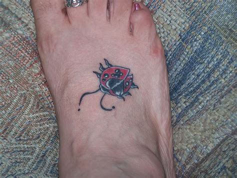 tattoos on your foot ladybug tattoos designs ideas and meaning tattoos for you