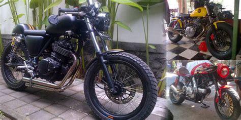 bengkel modif motor trail di surabaya ams garage bengkel modifikasi moge bergaya klasik dari