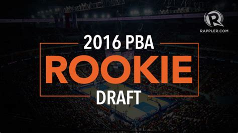 list  regular pba rookie draft applicants
