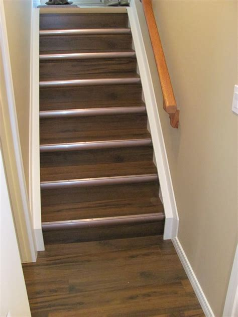 laminate on stairs with cool tread trim basement ideas pinterest metals stairs and projects