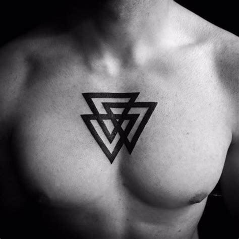 triangle tattoo on lips chest chest tattoo triangle men s tattoos pinterest