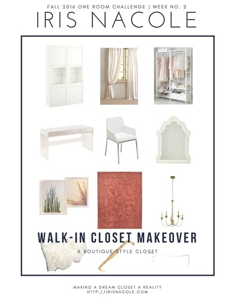one room challenge 2016 one room challenge a boutique style closet week 2