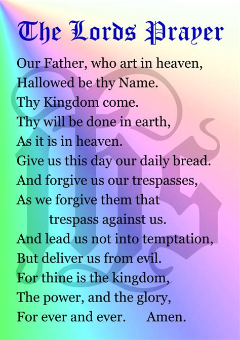 printable version of the lord s prayer the lords prayer s stephens adamstowns stephens adamstown