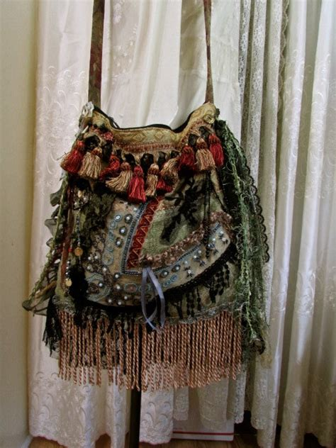 bohemian purse handmade fabric bag fabric shoulder