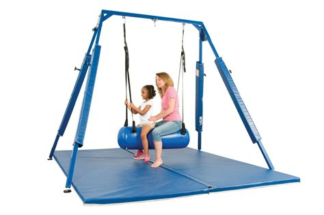 indoor sensory swing sensory swing frame mat school specialty marketplace