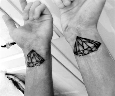 black n white diamond tattoo designs on wrist tattoos