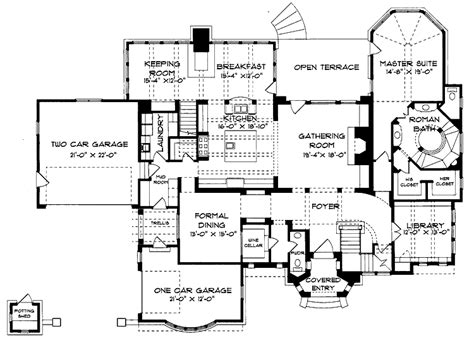 Queen Anne Floor Plans | floor plans aflfpw06764 2 story queen anne home with 4 bedrooms 4 bathrooms and 4 934 total
