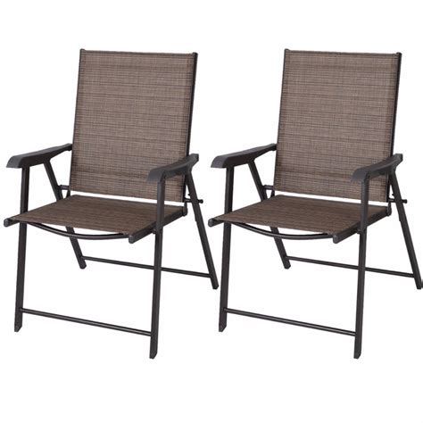 Patio Folding Chairs Aliexpress Buy Set Of 2 Outdoor Patio Folding Chairs Furniture Cing Deck Garden Pool