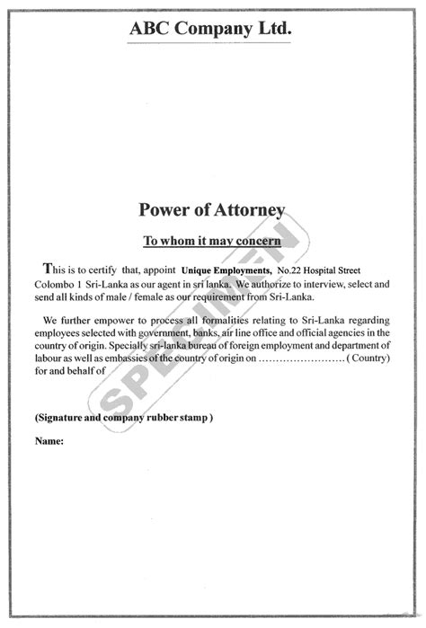 notice of revocation of power of attorney elegant power of attorney