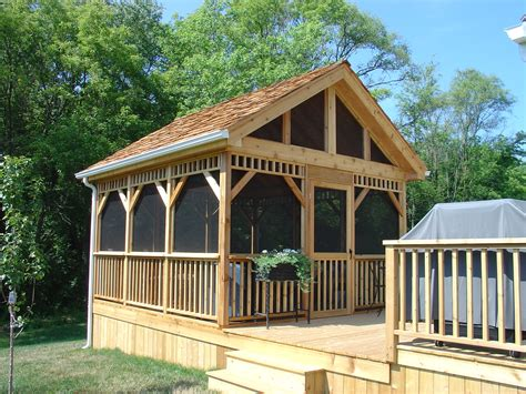 detached screen room exterior remodeling gazebos and screened porches future plans screened gazebo