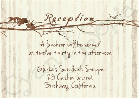 wedding reception cards templates 7 best images of free printable reception invitations