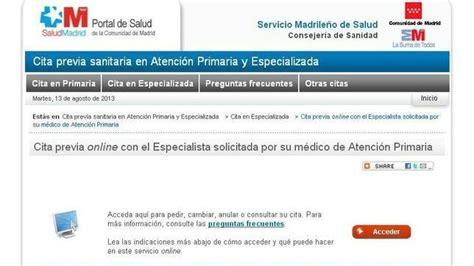 los madrilenos ya pueden elegir medico especialista por internet
