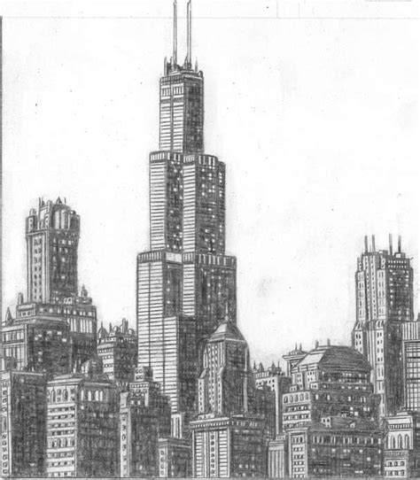 Chicago Search Chicago Skyline Drawing Image Search Results Picture To Pin On Thepinsta