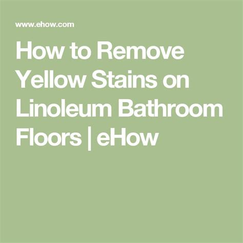 1000 ideas about remove yellow stains on